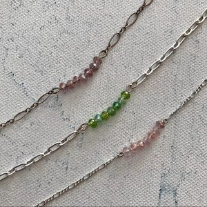 🛍 5/$25 Delicate Crystal Bracelet 3 Piece Bundle